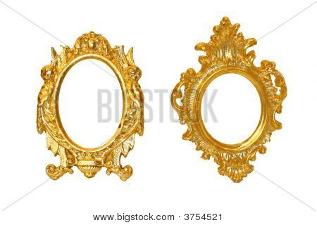 Marcos dorados para fotos ejemplo de marco que emplea los for Espejos dorados ovalados