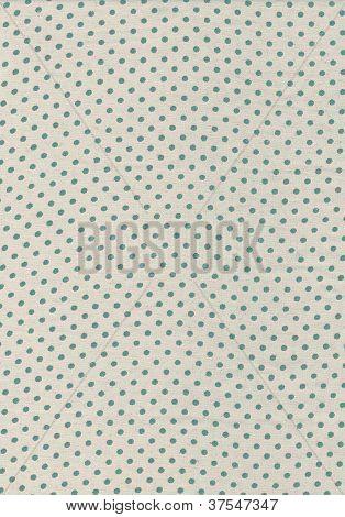 Green Polka Dot Vintage Pattern On Cloth Texture