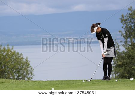 Player at Evian Masters, July 22, 2012