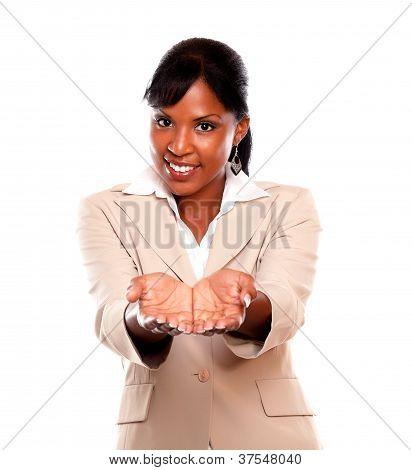 Smiling Black Woman Looking At You