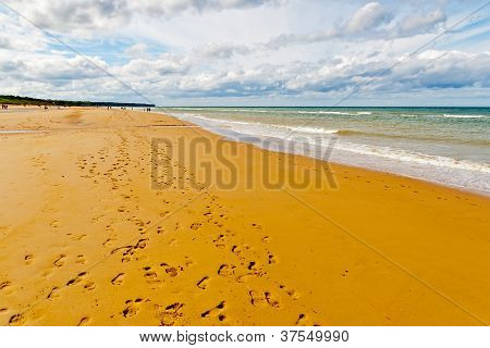 Omaha Beach, One Of The D-day Beaches Of Normandy, France