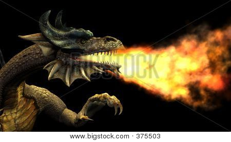 Fire Breathing Dragon - Portrait