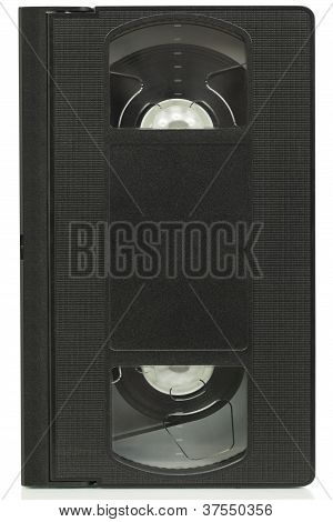 Video cassette,video tape on a white background