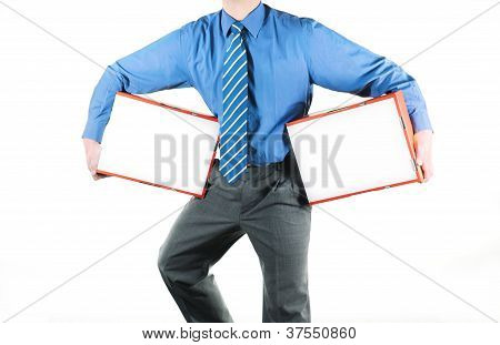 Businessman And Boxes