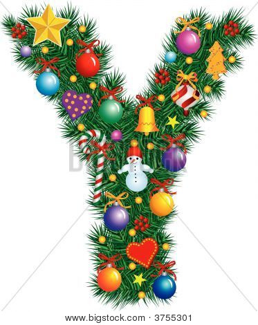 Alphabet Letter Y - Christmas Decoration