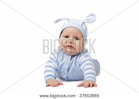 The Child On White Background