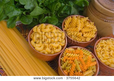 Selection Of Pasta Varieties