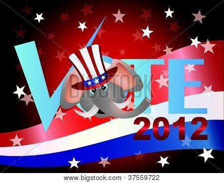 Ilustração de elefante republicano de votação