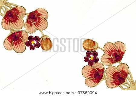 Rhinestone Jewelry Flowers