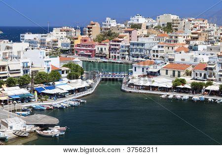 Agios Nikolaos city at Crete, Greece