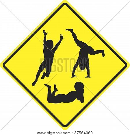 Caution Kids Playing