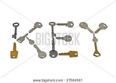 Set Of Keys Forming Word Key
