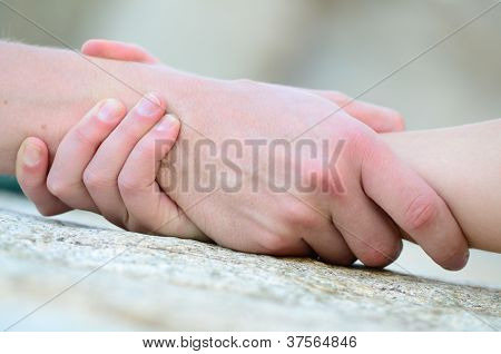 Clasped Hand For Help