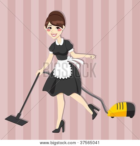 Lovely Housewife Maid