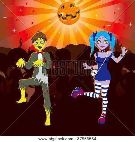 Zombie Disco Halloween Party