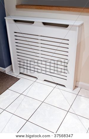 Radiator Cabinet Cover In A Modern Kitchen