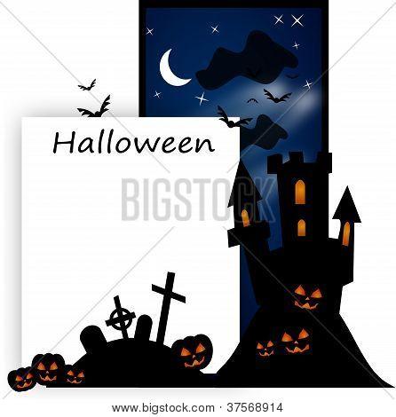Halloween spooky post card
