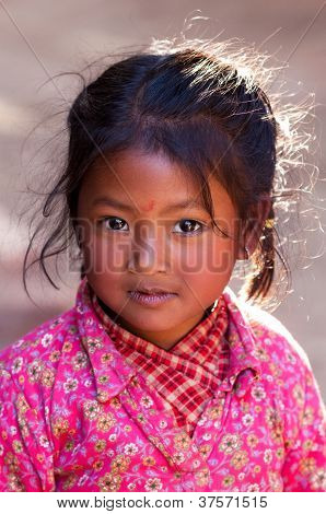 Portrait of nevaris girl , Nepal