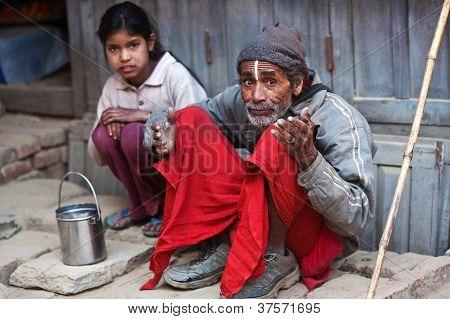 Nepalese Poor Family