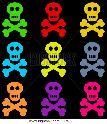 Colourful Skull