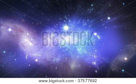 Beautiful universe background