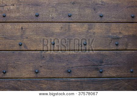 Ancient wood and metal background