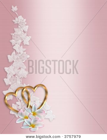 Wedding Invitation Background Pink Plumeria Stock photo