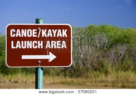 Canoe Launch Sign