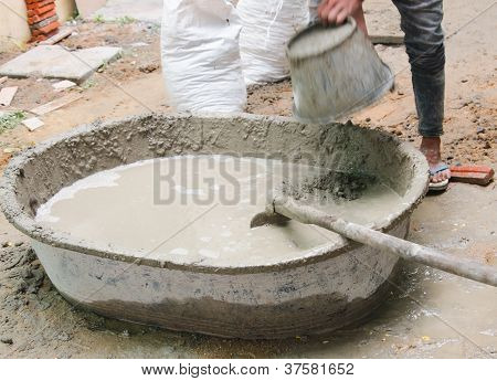 Mixed Cement Mortar