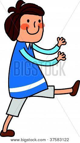 Portrait of Boy exercising