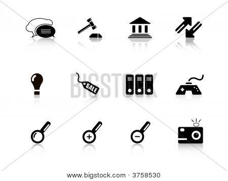 Conjunto de iconos de la Web de serie