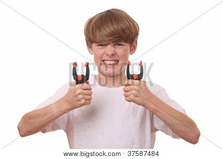 Boy With Clamps