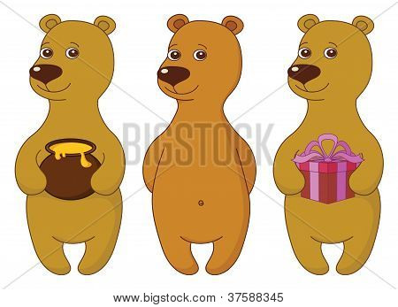 Teddy bears, set