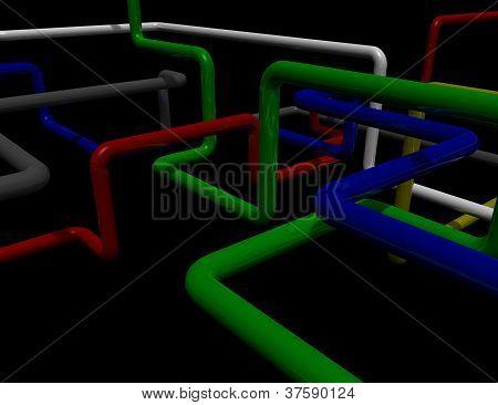Labirinto de tubos