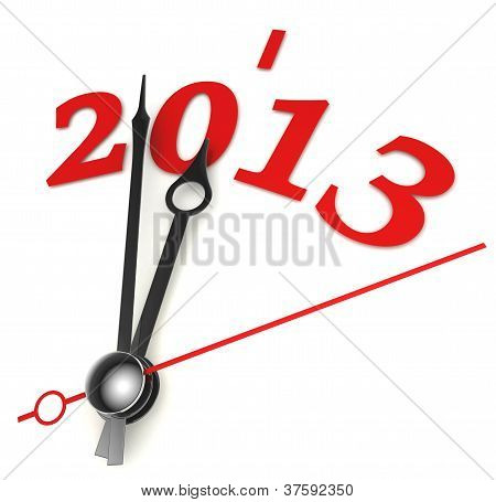 New Year 2013 Concept Clock