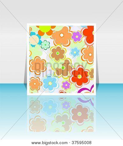 Design Background Of Spring Flowers Brochure. Birthday, Easter