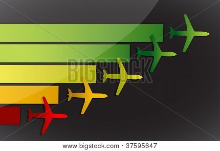 Airplanes Fling To The Same Destination
