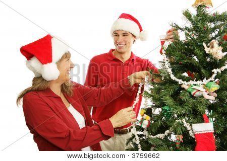 Decorating The Christmas Tree - Family Fun