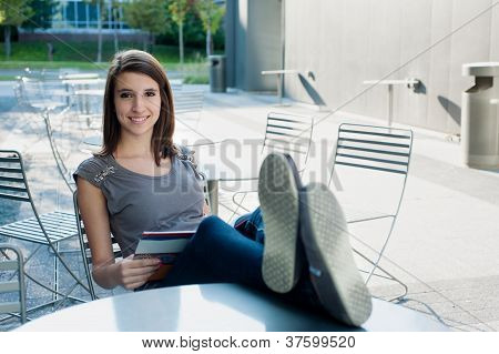 Girl Relaxing Outside