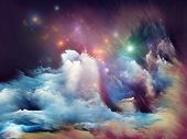pic of daydreaming  - Interplay of dreamy forms and colors on the subject of dream imagination fantasy and abstract art - JPG