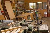 pic of joinery  - Traditional carpenter workshop with its wealth of tools and wood