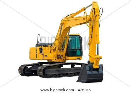 Excavator With Long Arm
