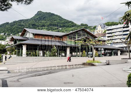 Covered Market Building In Montreux