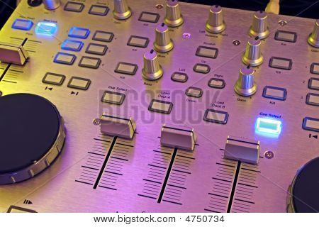 DJ Control Panel Music mixer