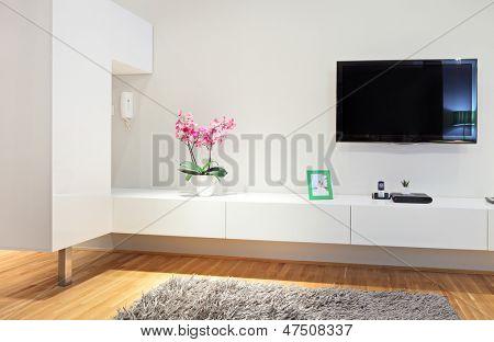 Schuss aus einem modernen Wohnzimmer