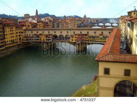 View Of Arno River From The Ufizzi Gallery