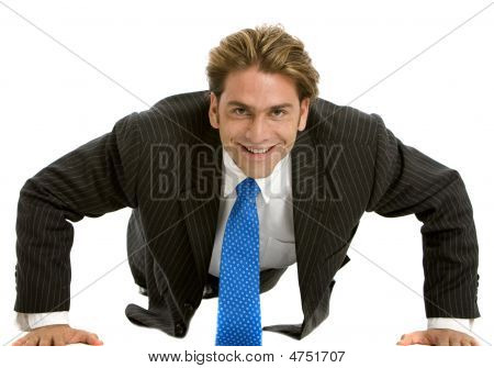 Business Man Exercising