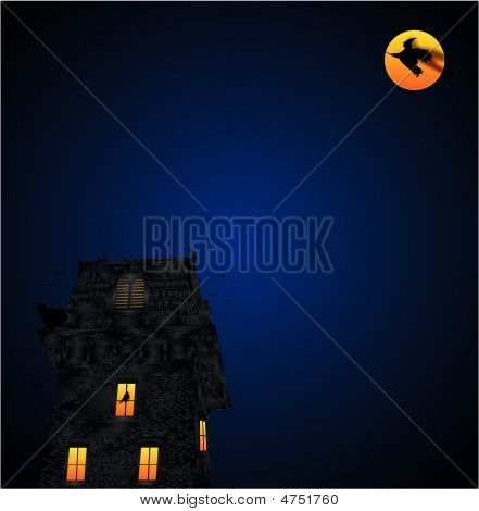 Haunted Firehall And Its Friends Illustration....
