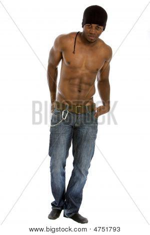 Black Fashion Male Isolated