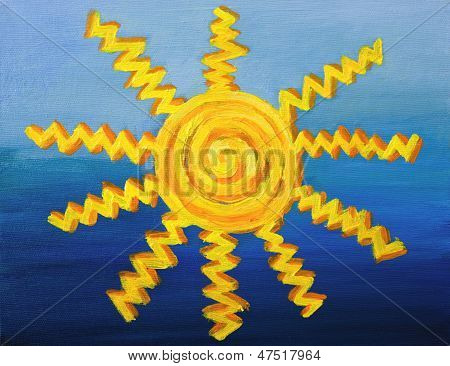 Decorative sun Artwork